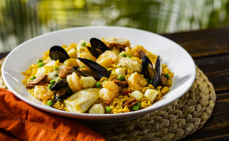 Plate of Seafood Paella