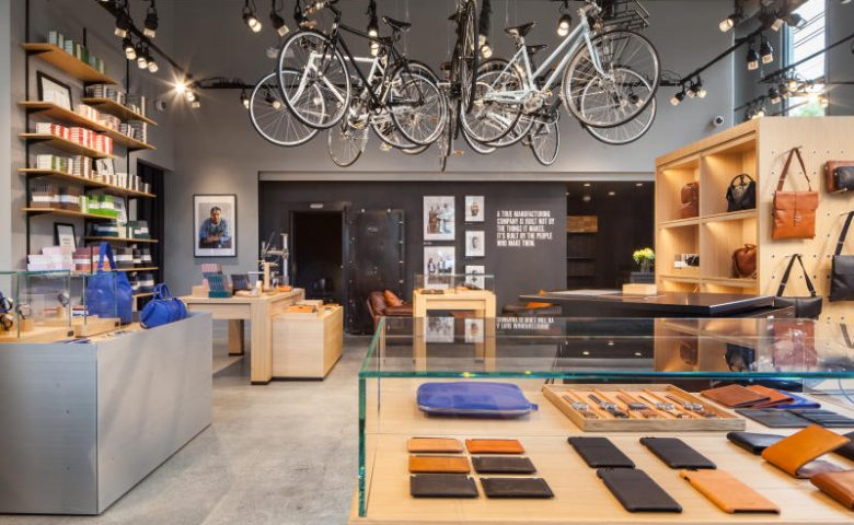 photo of interior of Shinola Detroit