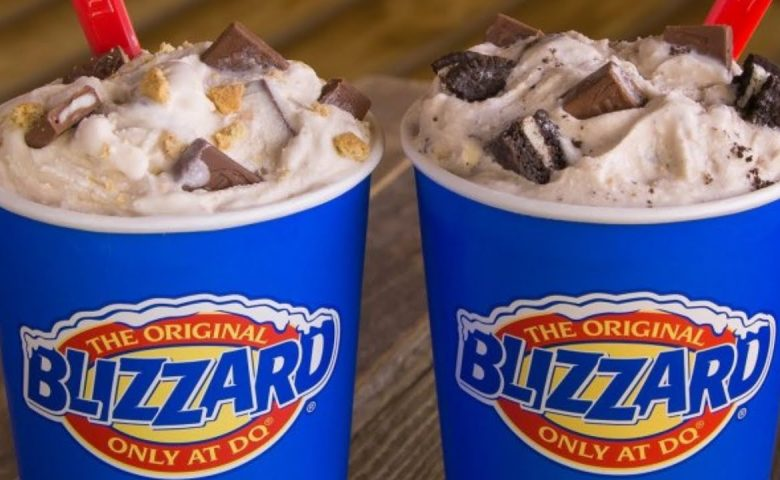 Two Dairy Queen Blizzards